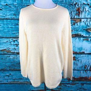 J Jill Sweater Pullover Crewneck Rib Knit Sweater